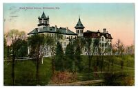 1910 State Normal School, Whitewater, WI Postcard *5J9
