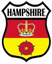 1 x Hampshire Hants Flag Decal Car Motorbike Laptop Window Sticker - Free P & P