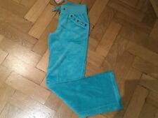 NWT Juicy Couture New & Gen. Girls Age 8 Turquoise Velour Pants With Juicy Logo