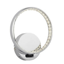 Searchlight Rings LED Chrome Clear Crystal Wall Bracket Light Indoor Lighting