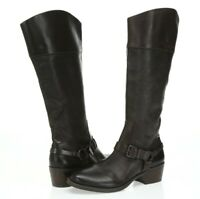 Vince Camuto Brunah Womens Dark Brown Leather Knee High Boots Size 8.5 M