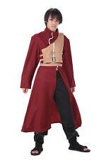 Naruto Shippuden Cosplay Costume Hidden Sand Kazekage Gaara Red Outfit V4 Set