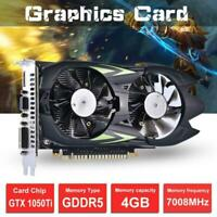 GTX1050Ti 4G DDR5 128bit Game Desktop PC Computer Graphics Card HDMI VGA DVI