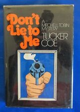 1972 DON'T LIE TO ME:A MITCHELL TOBIN MYSTERY by Tucker Coe HC/DJ FN+