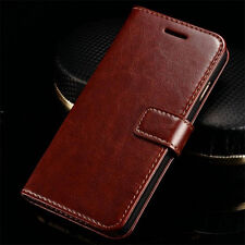 Hot Flip Wallet Magnetic Card Leather Case Cover For iPhone 6 7 Samsung S8 Plus