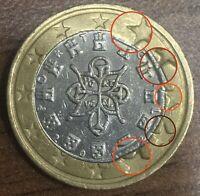 1 Euro Münze 1€ - Portugal  2002 - Fehlprägung