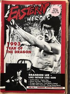 Eastern Heroes Magazine Vol 2 Issue 2 Bruce Lee Jackie Chan Kung Fu Very Rare