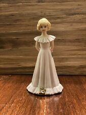 1981 Enesco Growing Up Birthday Girls~blonde 13 year-old girl~Vgc