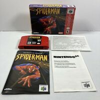 Spider-Man (Nintendo 64, N64) Complete in Box With Manual Authentic Tested!