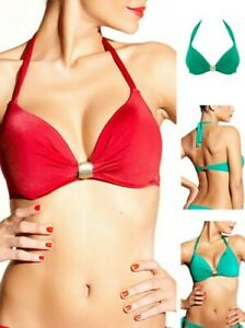 Chantelle Cleopatra Plunge Bikini Top 6492 Push Up Air Pads Underwired Multiway