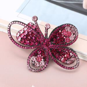Women's Crystal Hair Clips Slide Hairpin Pins Flower Comb Butterfly Accessories