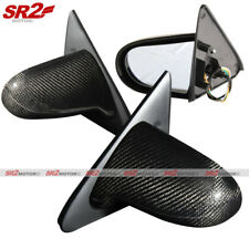 Real Carbon Fiber Spoon Style Power Adjust Side Mirrors fits 92-95 Civic 2/3DR