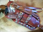 """"""" WESTERN HAND TOOLED SPOTTED LEATHER HOLSTER """" - """" for LARGE SINGLE ACTION """""""