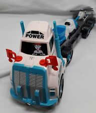 Truck Trailer Toy with Tool box with toys to change tyres- helicopter and 2 toy