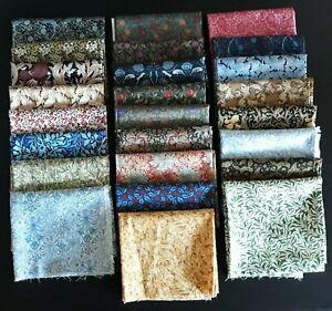 Quilting Fabric, William Morris Assortment, 25 Fat Quarters