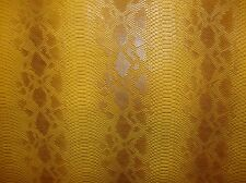 vinyl faux Fake leather upholstery Snake Scale Viper Caramel Embossed fabric BTY