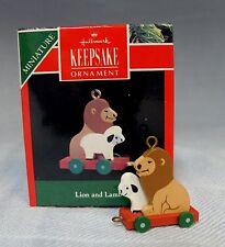 1990 Hallmark Miniature Lion and Lamb