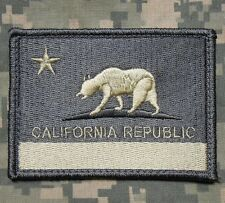 CALIFORNIA STATE FLAG REPUBLIC BEAR ARMY MORALE ACU LIGHT HOOK PATCH