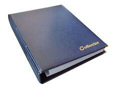 Blue BANCONOTE CARTELLA ALBUM LIBRO NOTE BANCONOTA 15 pagine-Grande Capacità