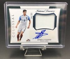 2018 NATIONAL TREASURES JOHN STONES COLOSSAL JERSEY PATCH AUTO /99 ENGLAND