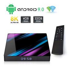 TV BOX ANDROID 9.0 IPTV 8K FULL HD 1080P 4GB 32GB RAM SMART DECODER WIFI