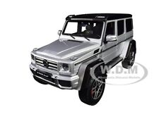 MERCEDES BENZ G CLASS 4×4² SILVER 1/18 DIECAST MODEL CAR BY ALMOST REAL 820204