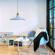 Modern Pendant Light Wood Ceiling Lights Blue Large Chandelier Lighting Bar Lamp