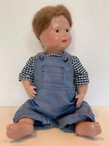 """1913 Schoenhut 16"""" Child Doll, Good Condition"""