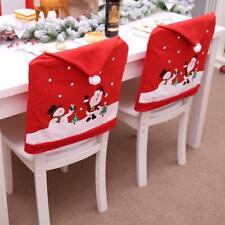 8 Stück Weihnachten Stuhlhussen Mütze Stuhlabdeckung Stuhlbezug Weihnachtsmann