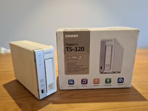 "QNAP TS-120 1-bay NAS complete with WD Purple WD40PURZ 3.5"" 4TB 64MB HDD"