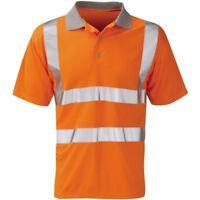 Orbit Mercury GO/RT Hi Viz Vis  Short Sleeve Orange Polo Shirt Rail Workwear