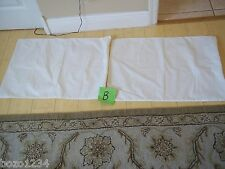 2 KING WATERPROOF PILLOW CASE PROTECTORS COVERS ZIP WASHABLE WHT POLYPROPYLENE *