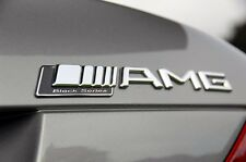 AMG Boot Trunk Badge Emblem Sticker Chrome Silver Black Series  C SLK CLK CL S