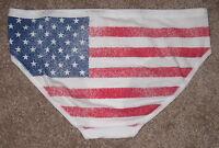 NWT VICTORIA'S SECRET AMERICAN FLAG STAR PATRIOTIC 4th JULY HIPHUGGER PANTIES