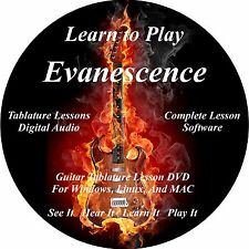 Evanescence Guitar TABS Lesson CD 84 Songs + Backing Tracks + BONUS!!