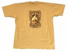 Crosby Stills Nash & Young Freedom of Speech 2006 Tour Yellow T Shirt New CSNY