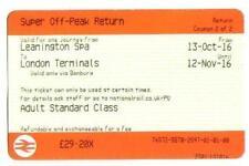 October Train Tickets