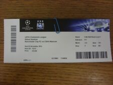 05/11/2014 Ticket: Manchester City v CSKA Moscow [Champions League] .  Footy Pro