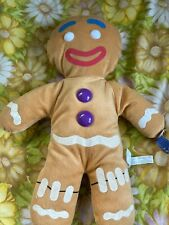 Gingy Gingerbread Man Shrek The Third Plush Stuffed Brown Plastic Buttons 17""