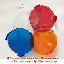 """For Vision X Lighting 9151069 4.7"""" 25W Amber Blue Red Clear Cover PC Lens 4pcs"""