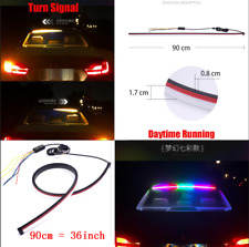 Car Third 3rd Roofline Brake High Light Strip Colorful Turn Signal Reserve 90cm