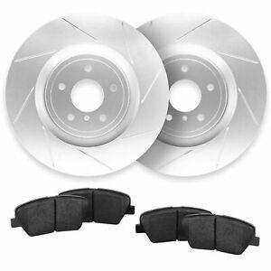 For 2007-2010 Chevrolet Cobalt, HHR Front Slotted Brake Rotors + Ceramic Pads