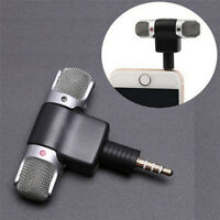 Universal Mini Stereo Microphone Mic Audio For PC Laptop Notebook Talk 3.5mm &LJ