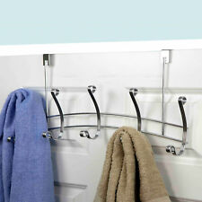 Home Basics Arched Over The Door 5 Hook Rack Chrome
