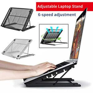 Adjustable Laptop Stand  Folding Portable Mesh Desktop iPad Holder Support