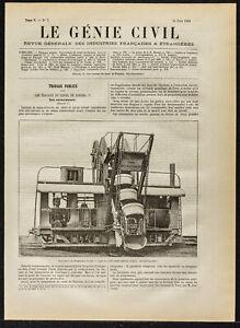 1884 - Bagger der Kanal Des Panama - Genie Civil - Works