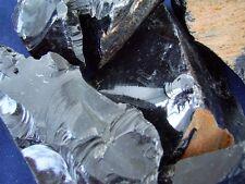 Obsidian Black rough Tumbling / Cabbing / Knapping  1 lb From Mexico