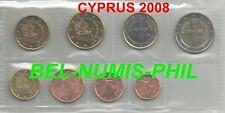 CYPRUS 2008 - 8 Munten/Monnaies uit de rol/rouleau - UNC!!!