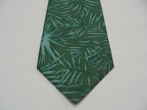 """BANANA REPUBLIC - PLANT PRINT - WIDE 4"""" - MADE IN ITALY - 100% SILK NECK TIE!"""