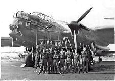 "AVRO LANCASTER BILLIE 103 SQUADRON CREW AND BOMBER WW11  20X30"" QUALITY CANVAS"
